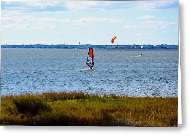 Windsurfing 1 Greeting Card by Lanjee Chee