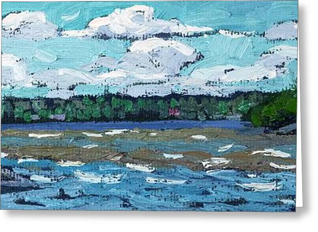 Canadian Greeting Cards - Windy Day Greeting Card by Phil Chadwick