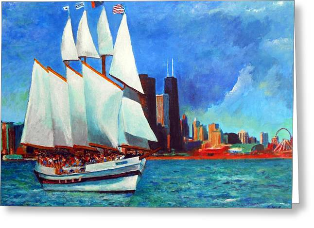 Medical Greeting Cards - Windy In Chicago Greeting Card by Michael Durst