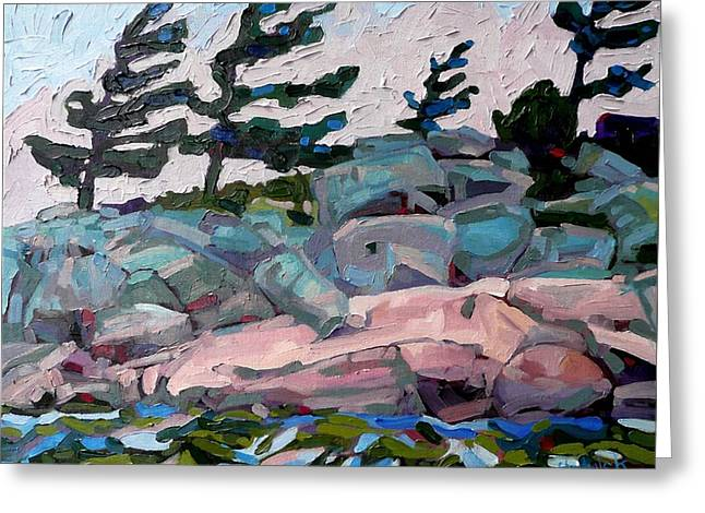 Canadian Greeting Cards - Windy Island Greeting Card by Phil Chadwick