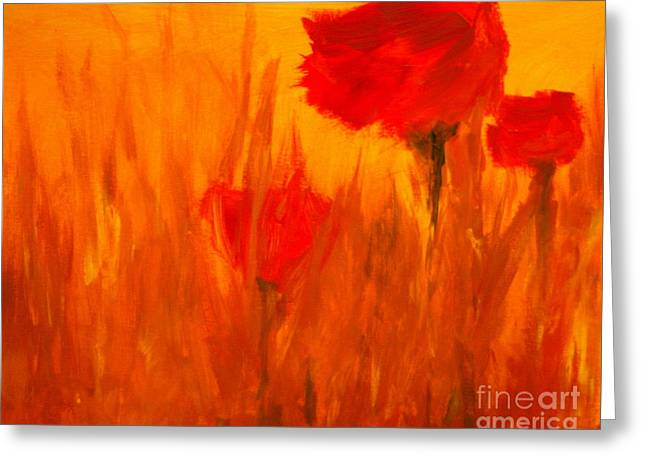 Red Photographs Paintings Greeting Cards - Windy Red Greeting Card by Julie Lueders