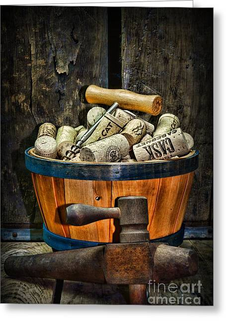 Wine A Different Type Of Fruit Greeting Card by Paul Ward