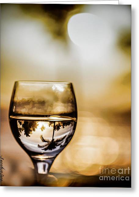 Wine And Sunset Greeting Card by  rdm-Margaux Dreamations