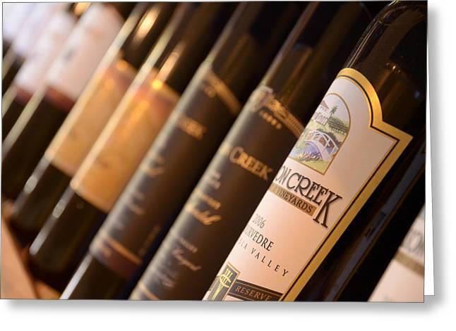 Wine Bottles Greeting Card by Craig Incardone