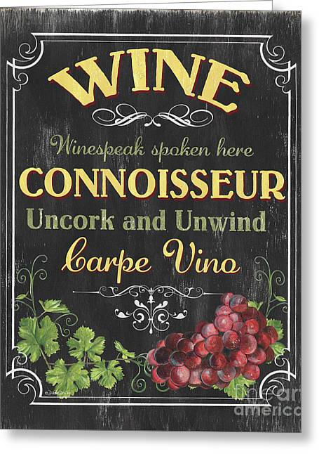 Wine Cellar 2 Greeting Card by Debbie DeWitt
