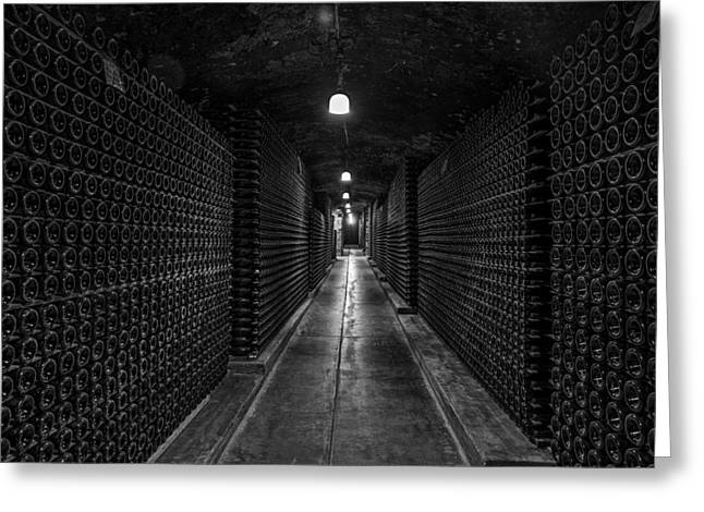 Cellar Greeting Cards - Wine Cellar Cave Greeting Card by Mountain Dreams