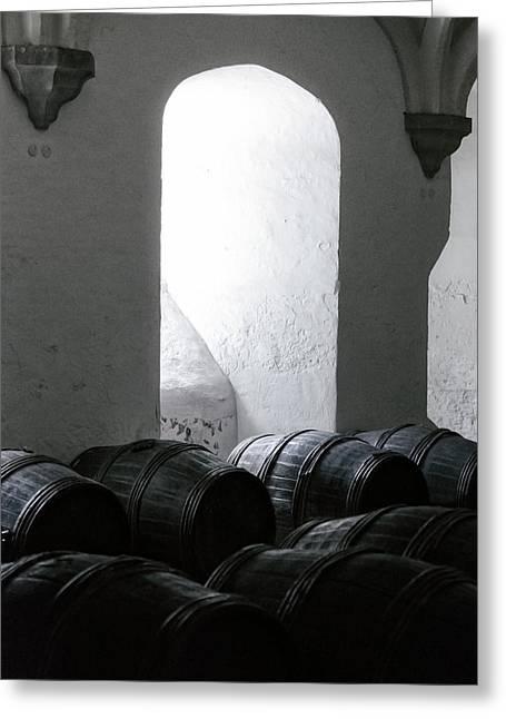 Wine Cellar Greeting Card by Joana Kruse