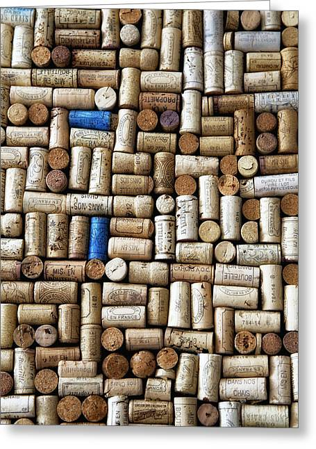 Images Of Wine Bottles Greeting Cards - Wine Corks Greeting Card by Nomad Art And  Design