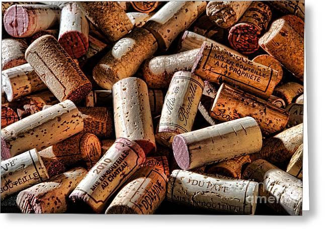 Fine Bottle Greeting Cards - Wine Corks  Greeting Card by Olivier Le Queinec