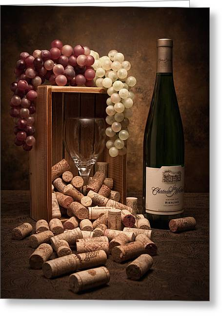 Wine-bottle Greeting Cards - Wine Corks Still Life II Greeting Card by Tom Mc Nemar