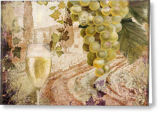 Glass Of Wine Greeting Cards - Wine Country Alsace Greeting Card by Mindy Sommers