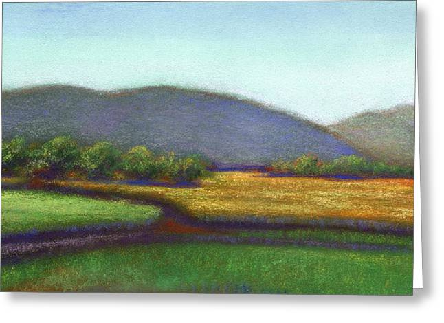 Napa Valley Vineyard Pastels Greeting Cards - Wine County in Napa Greeting Card by Linda Ruiz-Lozito