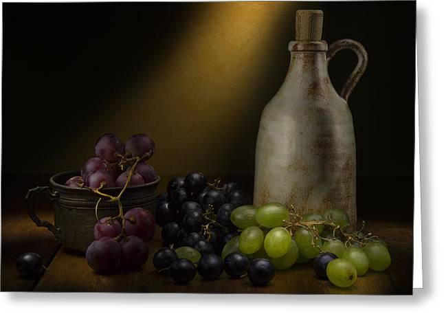Wine Deco Art Photographs Greeting Cards - Wine Greeting Card by Enzo Caraballo