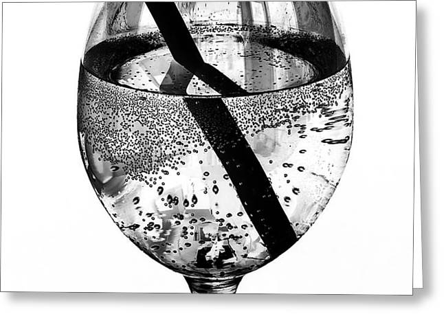 Wine Glass Fizz Greeting Card by Marion McCristall