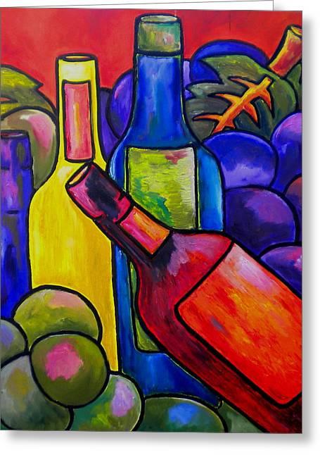 Italian Kitchen Greeting Cards - Wine In Orange Greeting Card by Patti Schermerhorn
