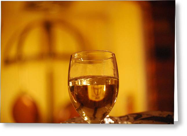 Wine In The Kitchen Greeting Card by Peter  McIntosh