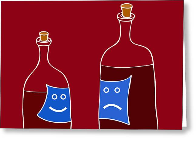 Wine Lovers Greeting Card by Frank Tschakert