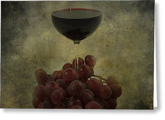 Kitchen Photos Photographs Greeting Cards - Wine Makes me Fine Greeting Card by Jerry Cordeiro
