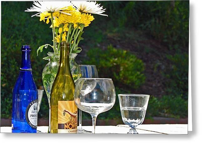 Wine Me Up Greeting Card by Debbi Granruth