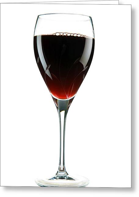 Wine Pour Greeting Cards - Wine Greeting Card by Michael Ledray