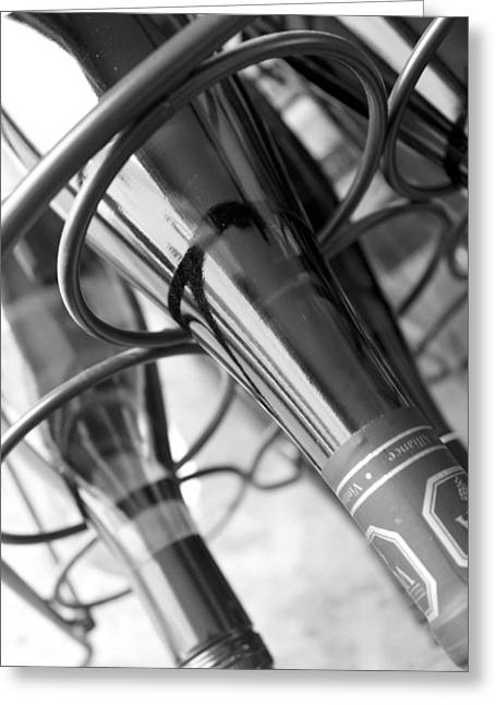 Label Greeting Cards - Wine Rack And Bottles Greeting Card by Pam Walker