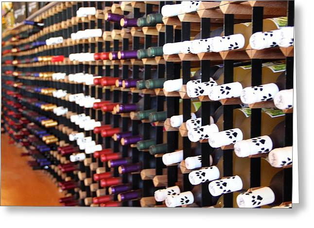 Winery Greeting Cards - Wine Rack Greeting Card by Brian Manfra