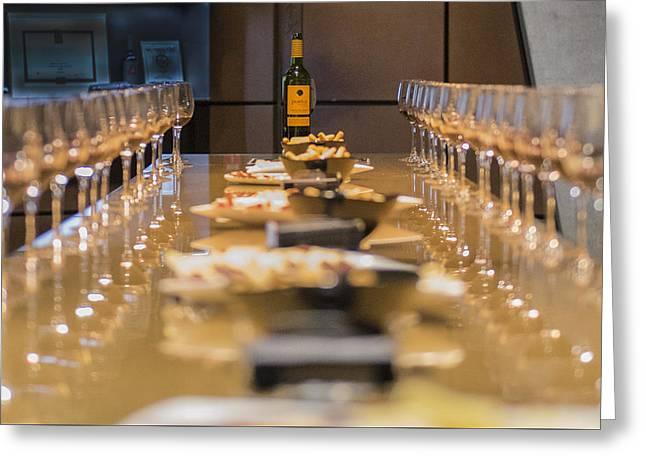 Wine Tasting Greeting Card by Jon Berghoff