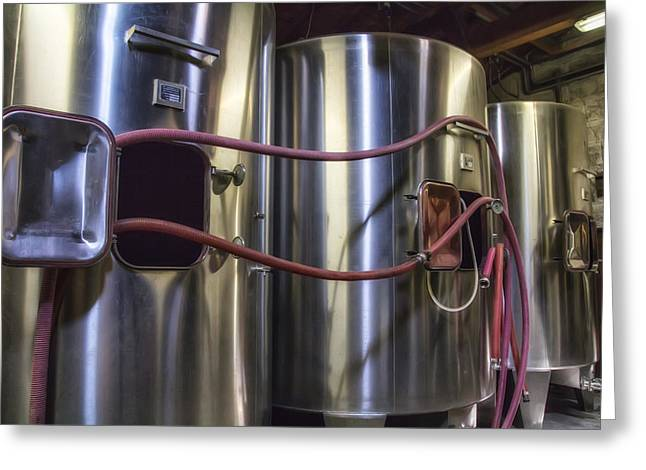 Cellar Greeting Cards - Wine Vats in Bordeaux Greeting Card by Nomad Art And  Design
