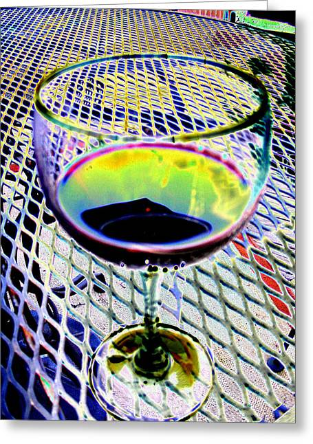Wine-glass Digital Greeting Cards - Wine vertical Greeting Card by Peter  McIntosh