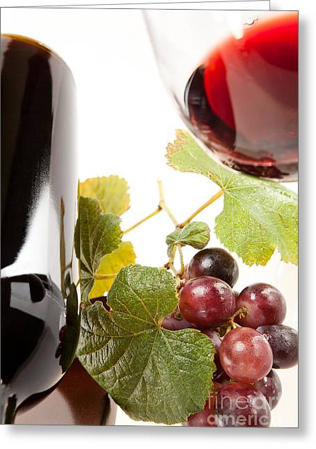 Party Greeting Cards - Wine Greeting Card by Wolfgang Steiner
