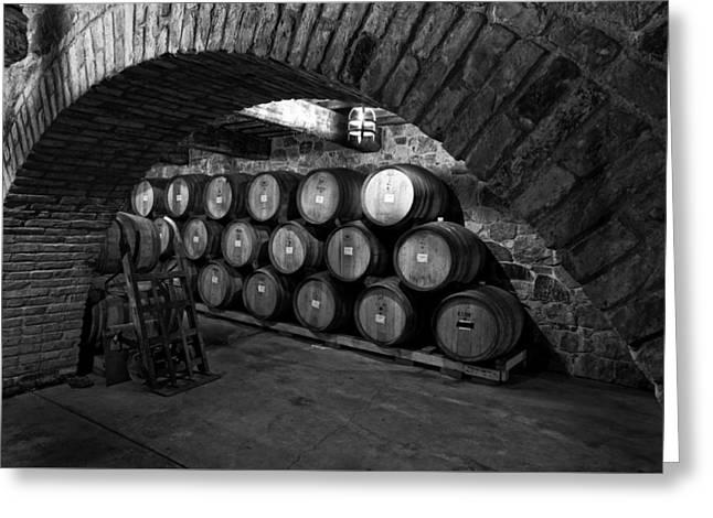 Italian Wine Greeting Cards - Winery Treasure Greeting Card by Mountain Dreams
