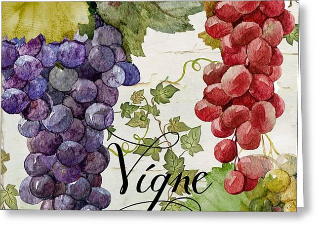 Wines Of Paris Greeting Card by Mindy Sommers