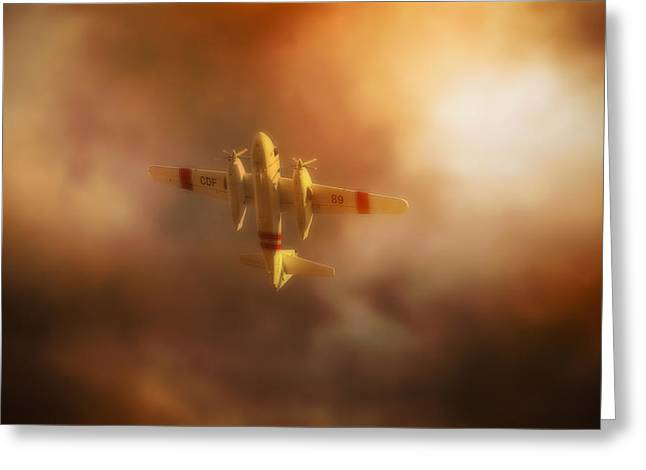 Wildfires Greeting Cards - Wing and Prayer Greeting Card by John Hamlon