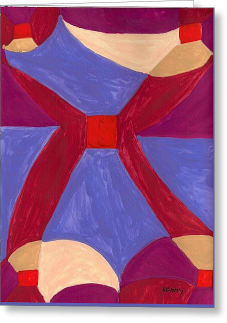 Abstract Shapes Greeting Cards - Wing Greeting Card by Denise Davis