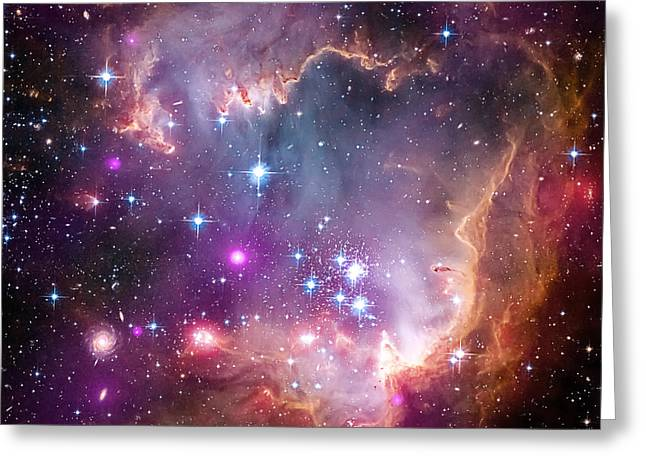 Wing Of The Small Magellanic Cloud Greeting Card by Mark Kiver