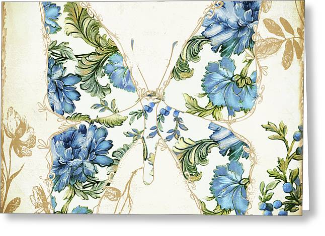 Flowered Greeting Cards - Winged Tapestry IV Greeting Card by Mindy Sommers