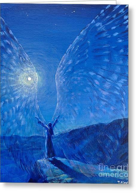 Winged Greeting Card by Tatiana Kiselyova