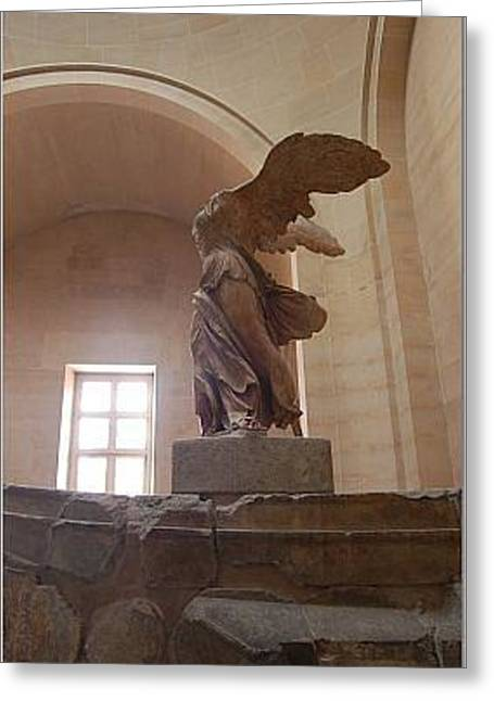 Nike Of Samothrace Greeting Cards - Winged Victory Greeting Card by Andrea Harston