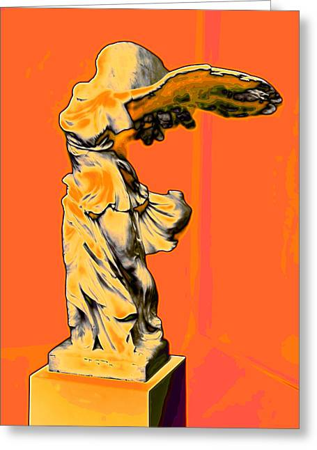 Greek Sculpture Greeting Cards - Winged Victory Greeting Card by Carl Purcell