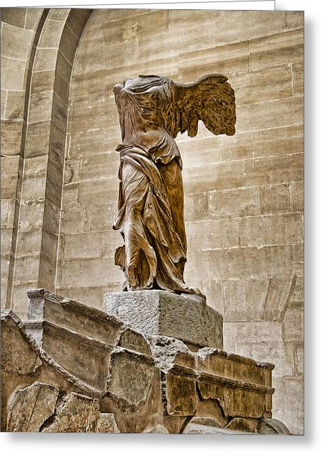 Nike Greeting Cards - Winged Victory Greeting Card by Jon Berghoff