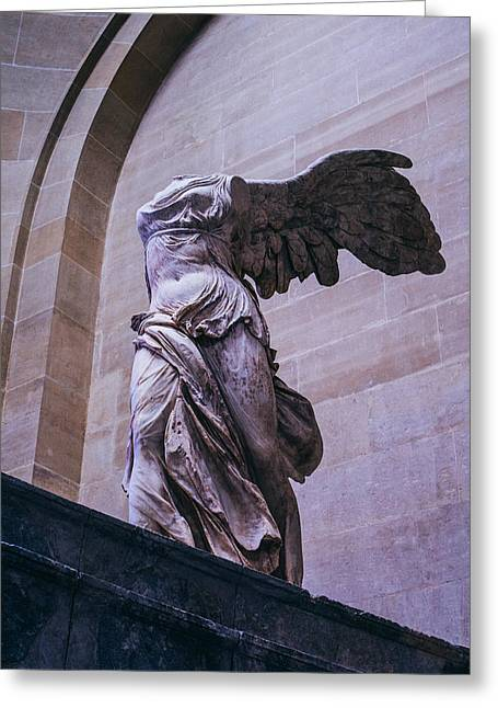 Nike Greeting Cards - Winged Victory of Samothrace Greeting Card by Pati Photography