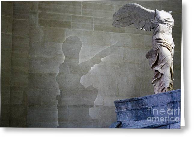 Nike Greeting Cards - Winged Victory Greeting Card by TJ  Paulson
