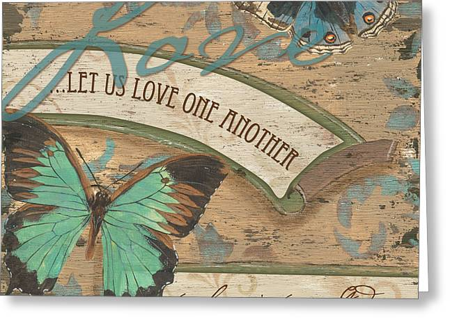 Christian Verses Greeting Cards - Wings of Love Greeting Card by Debbie DeWitt