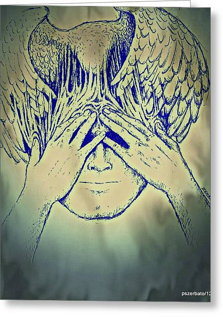 Symbolism Of The Hand Greeting Cards - Wings To The Thoughts Greeting Card by Paulo Zerbato