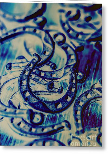Winning Blue Country Tokens Greeting Card by Jorgo Photography - Wall Art Gallery