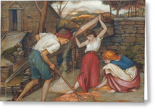 Laborers Greeting Cards - Winnowing Greeting Card by John Roddam Spencer Stanhope