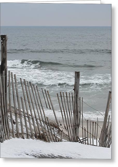 Ocean Art Photos Greeting Cards - Winter 18 Greeting Card by Joyce StJames