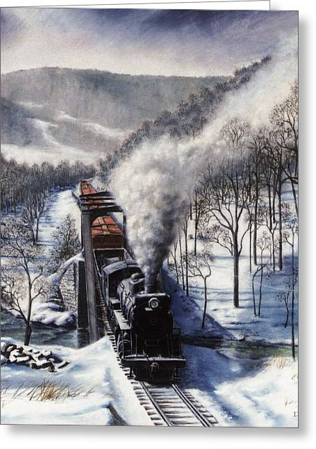 Pa Drawings Greeting Cards - Winter at Deer Creek Greeting Card by David Mittner