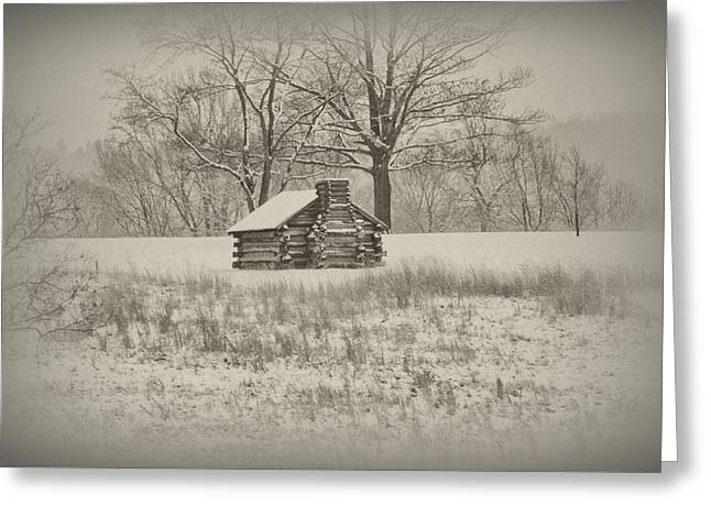 Winter At Valley Forge Greeting Card by Bill Cannon