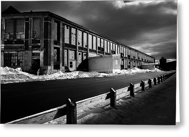 Winter Bates Mill Greeting Card by Bob Orsillo